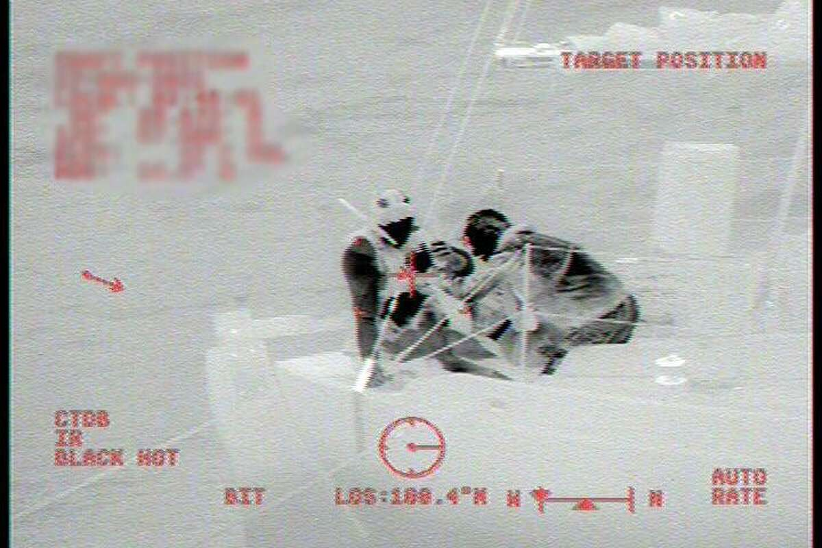 A U.S. Coast Guard image showing the rescue of a woman who ingested poison while sailing off the coast of Bodega Bay.