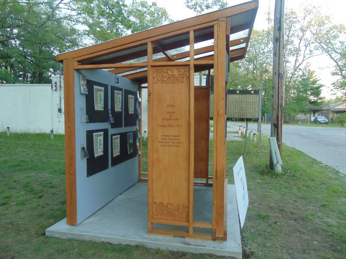 A pavilion showcasing Idlewild's history is a new addition to the community. (Star photo/Shanna Avery)