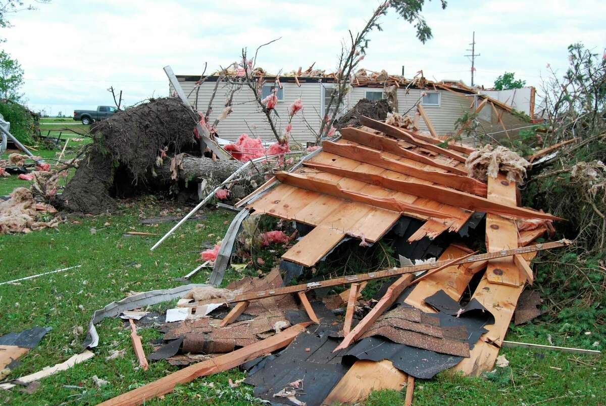 This home on Grindstone Road near Independence Avenue in Port Austin was destroyed during the June 26 tornado. Those who directly affected by the June 26 Port Austin tornado have until Sept. 1 to apply for a share of the $173,578 in relief funds allocated by the state of Michigan to Huron County. (Tribune File Photo)