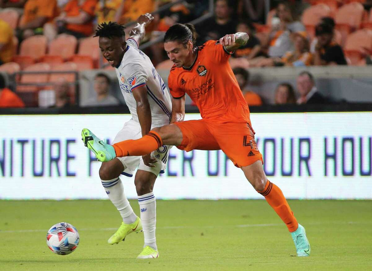 Dynamo defender Zarek Valentin (4) has been contributing to charitable efforts since shortly after he arrived in Houston in January of this year.