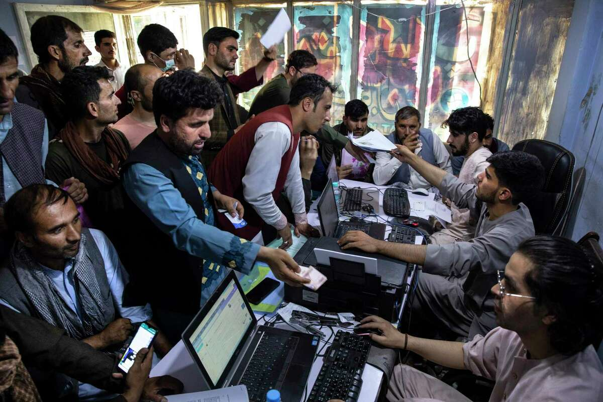As Afghans seeking special immigrant visas crowd an internet cafe to apply for the program, others climb atop a plane at the Kabul airport, hoping to flee the Taliban. President Joe Biden has left our allies in grave danger, and he must do all he can to get them out of the country.