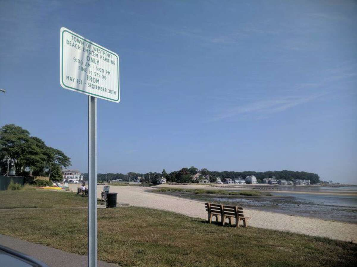 Westport's Compo Beach. A permit is required to park.
