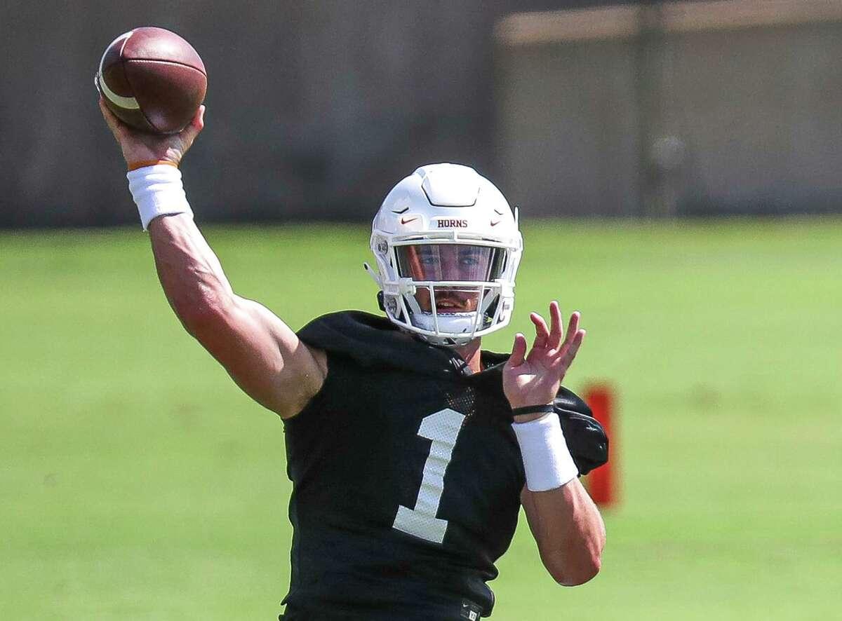 Hudson Card will start at quarterback for Texas in Saturday's season opener against Louisiana-Lafayette in Austin.