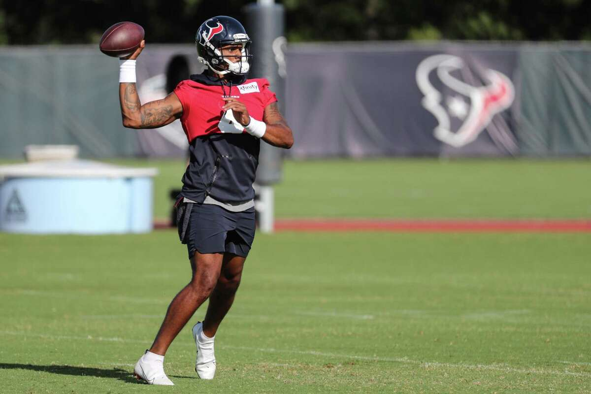 The last time Deshaun Watson was on display at Texans practice was last Thursday.