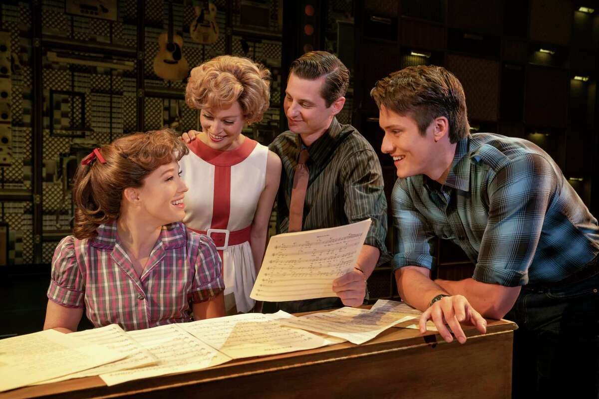 """The Palace Theater's upcoming season includes performances of """"Beautiful: The Carol King Story. From left are Kennedy Caughell as Carole King, Kathryn Boswell as Cynthia Weil, James Michael Lambert as Barry Mann and James D. Gish as Gerry Goffin."""