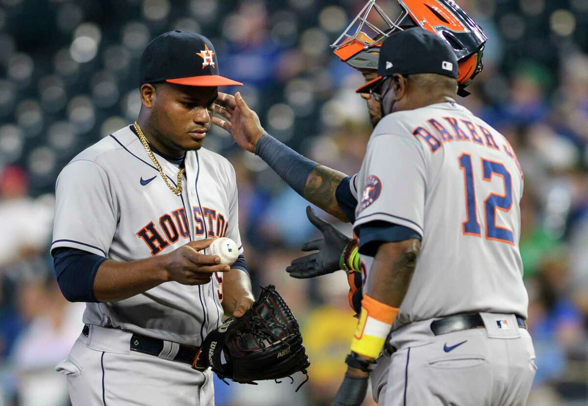 Framber Valdez gave the Astros a chance to win Tuesday, but got only one run of support while the offense didn't get a hit after the fifth inning.