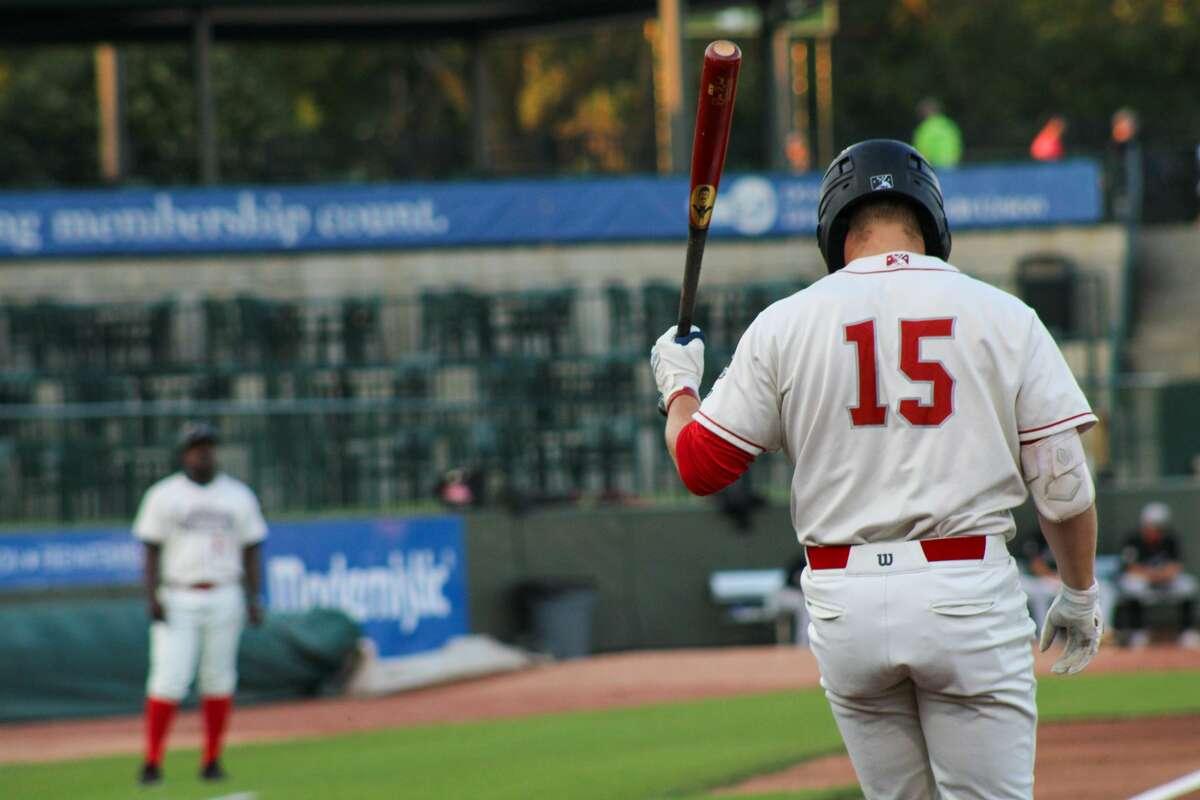 Loons center fielder Ryan Ward prepares to go to bat against Lansing on Aug. 17 at Dow Diamond (Austin Chastain/austin.chastain@hearstnp.com)
