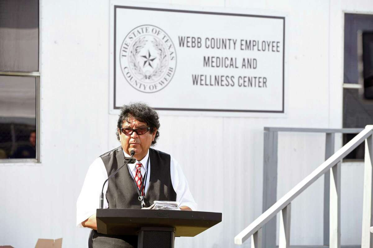 Dr. Pedro Alfaro speaks during the Webb County Employee Medical and Wellness Center grand opening and invites guests to tour the clinic after the presentation on Tuesday, Aug. 17, 2021.