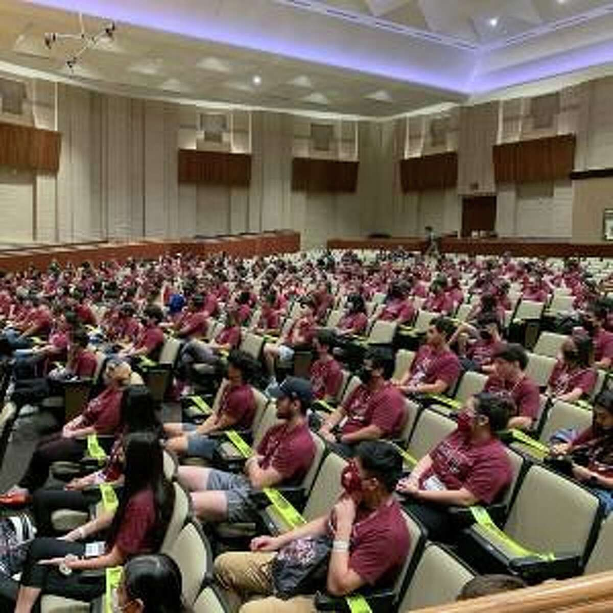 TAMIU students participate in Dusty Camp - a two-day student orientation experience.
