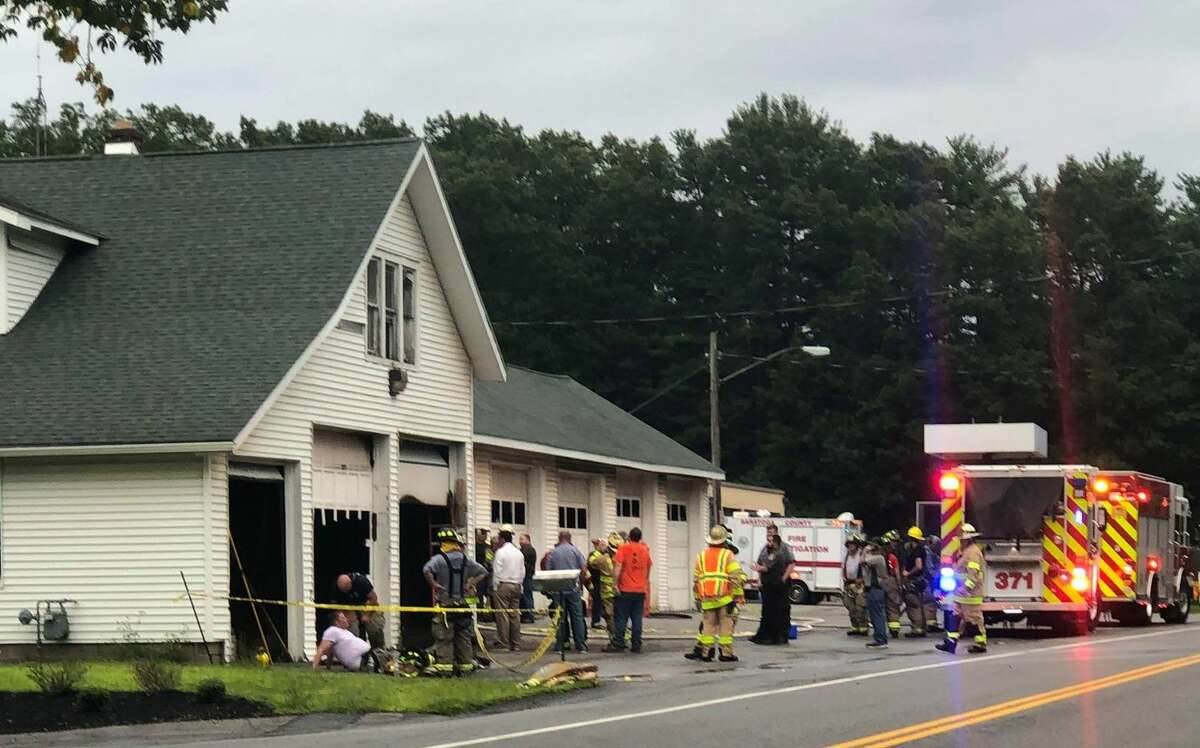 Fire broke out at Clifton Park highway garage on Tuesday evening.