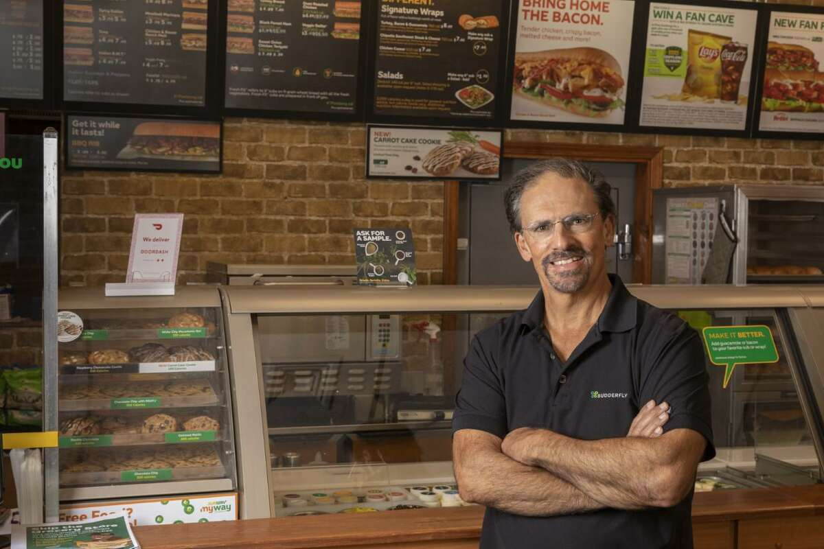 Al Sabbloie, chief executive officer and founder of the Shelton-based energy services company Budderfly. Sabbloie is shown at a franchised Subway restaurant location that is one of his company's clients.