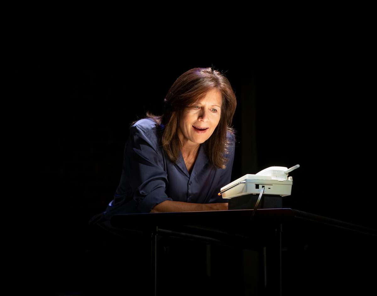 """Jennifer Van Dyck in """"Sister Sorry,"""" at Barrington Stage Company in Pittsfield, Mass., through Aug. 29, 2021."""