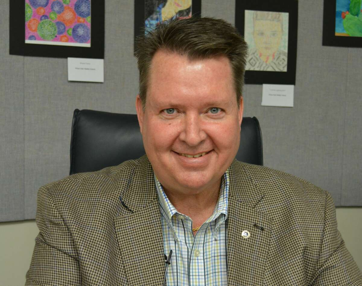 This 2014 photo shows Stuart Stanley in his job with New Caney ISD.