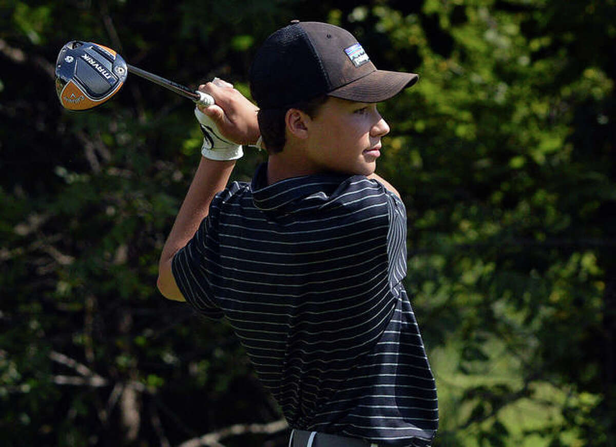 Edwardsville's Carter Crow fired a 69 to grab medalist honors Tuesday at the Alton Tee-Off Classic at Spencer T. Olin Golf Course.