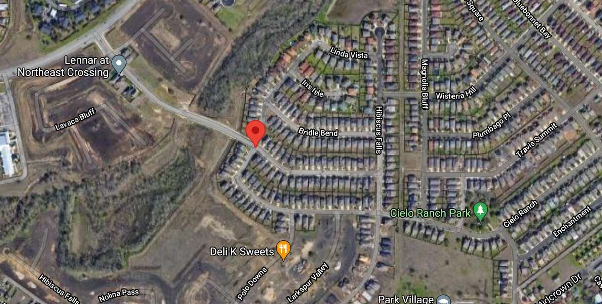 Two teenagers have been hospitalized with life-threatening injuries after a shooting in the 5800 block of Tranquil Dawn Tuesday afternoon. The map shows the location of the incident.