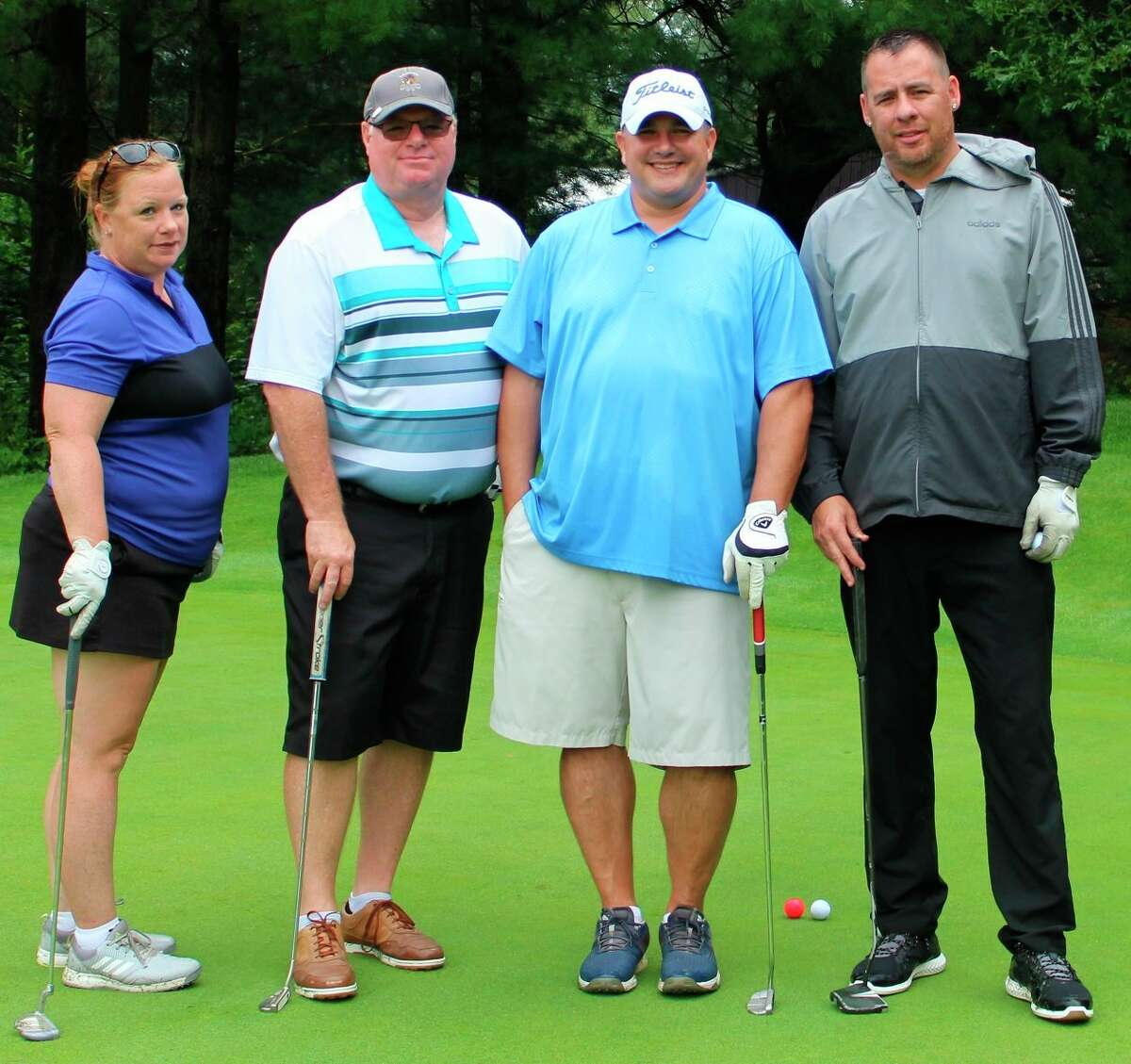 Second-Place Team (left to right):Little River Casino team Rochelle Sam, Brian Rayburn, Chad Eckhardt, and Jonnie Sam. (Courtesy Photo)