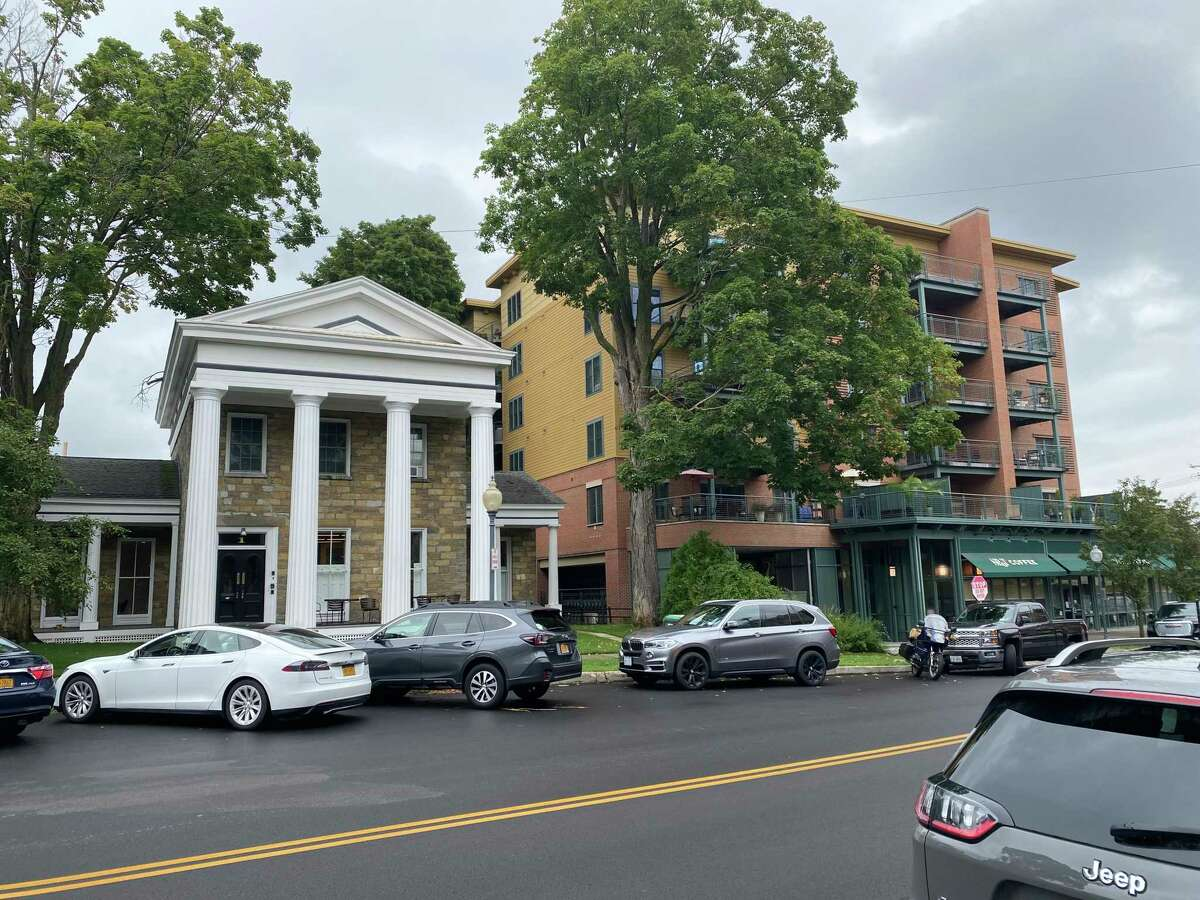 1 Franklin Square, Saratoga Springs on Aug. 18, 2021. The owner of the building, Business for Good Foundation, gifted a long-term lease to Shelters of Saratoga, which is moving four formerly homeless people into the apartments and using the first floor office space for staff.