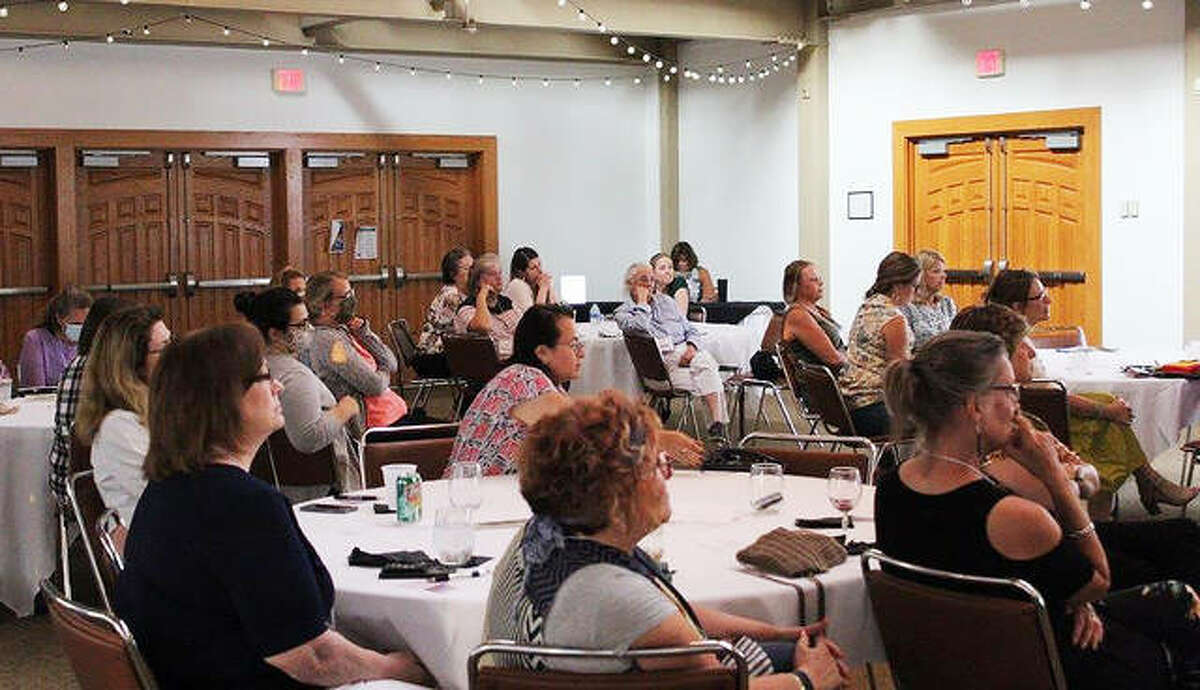 100+ Women Who Care from the 618 held the in-person portion of its quarterly meeting on July 22 at the Leclaire Room at the N. O. Nelson Campus of Lewis and Clark Community College.