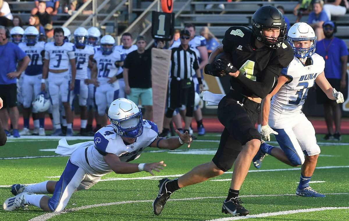 Vidor faces Buna at home in their season opening scrimmage. Photo made Friday, August 13, 2021 Kim Brent/The Enterprise