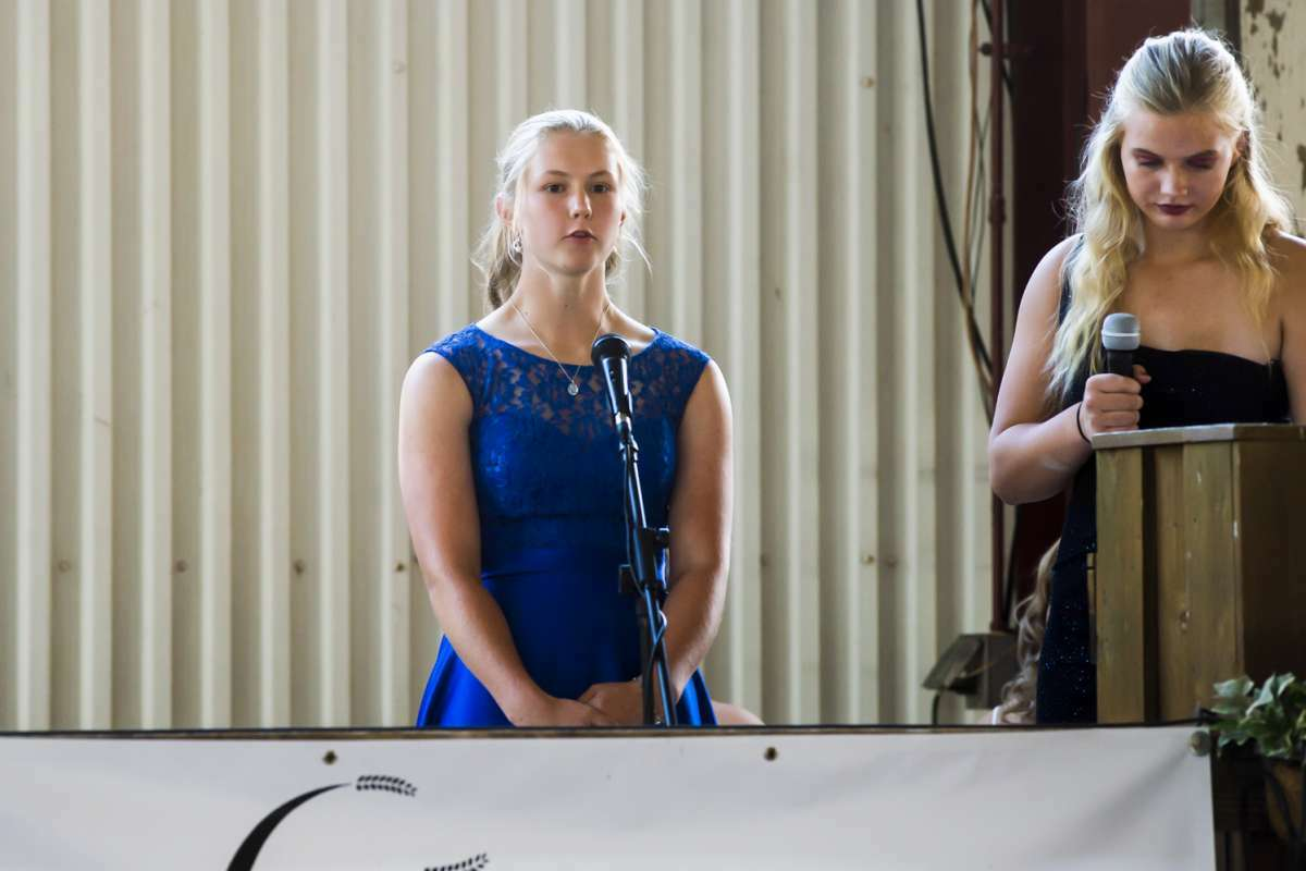 Audrey Martin, 16, completes the interview portion before being named Queen in the 2021 Midland County Fair Royalty Contest Saturday, Aug. 14, 2021 at the Midland County Fairgrounds. (Katy Kildee/kkildee@mdn.net)