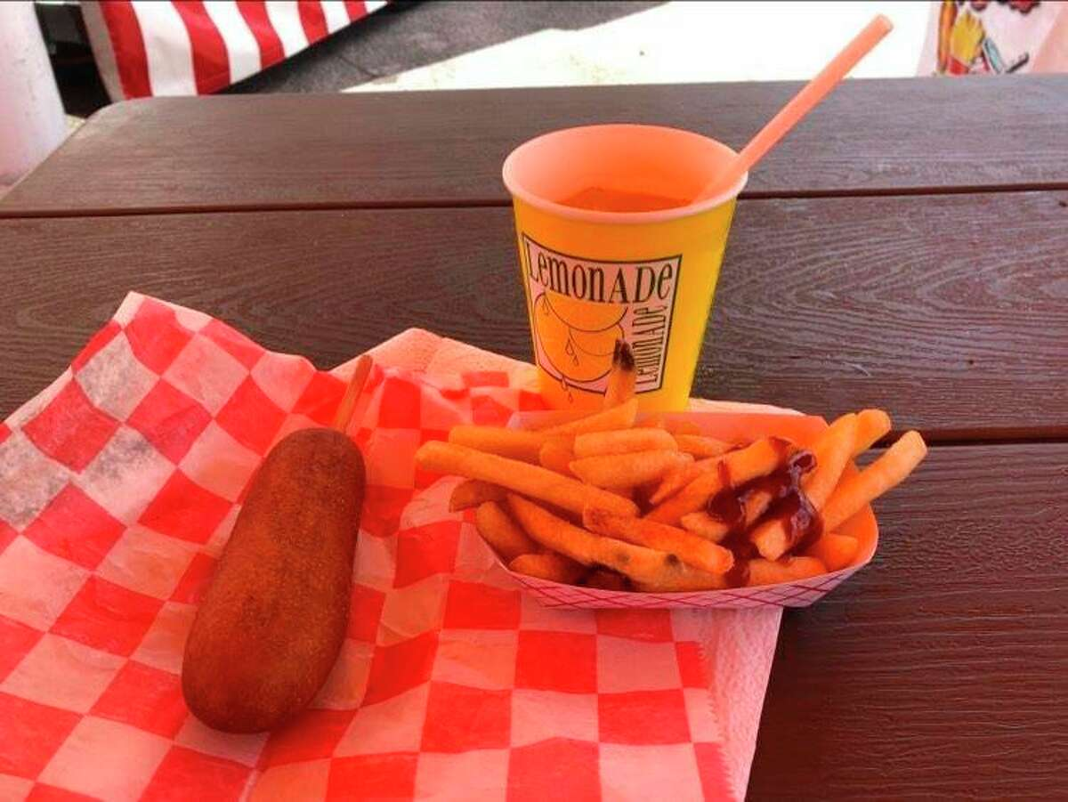 For my lunch at the Midland County Fair, I went with my old favorite: a corn dog, fries and lemonade, all provided by Nagel's. (Victoria Ritter/vritter@mdn.net)