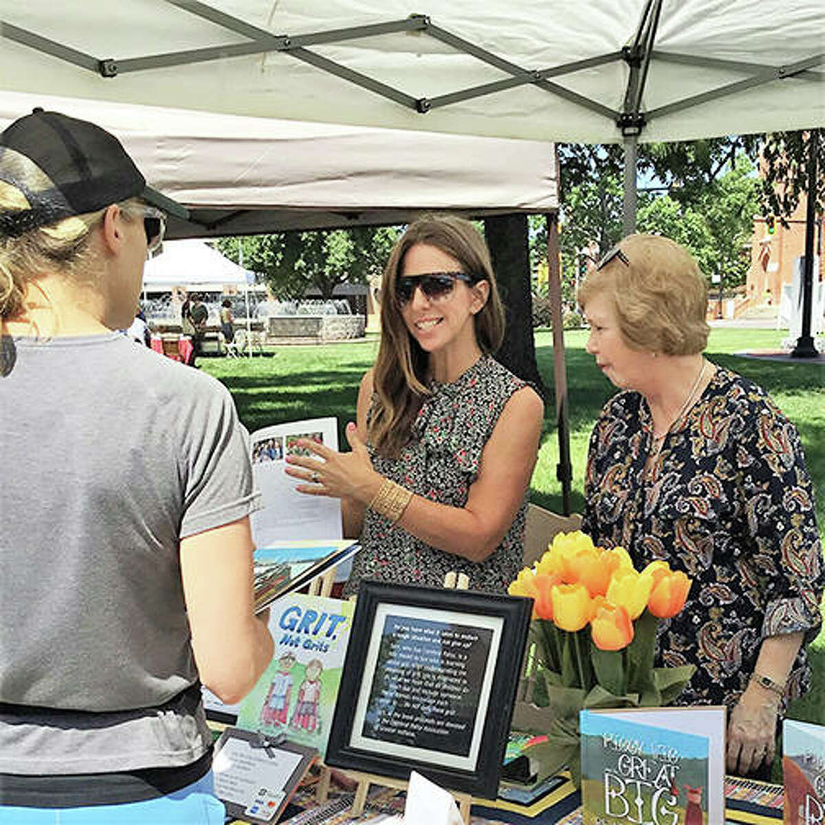 Local author Tammi Beck talked with people and sold her books at the inaugural Edwardsville Book Festival in 2019. This year's event is slated for Sept. 4 at Edwardsville City Park.