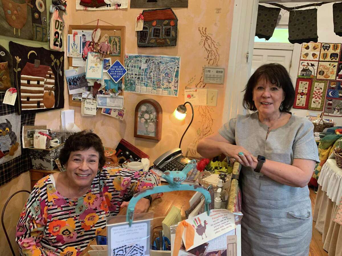 Toni Reyna, at left, and Francine Pons are longtime owners of Las Colchas, which is celebrating 40 years in business this year.