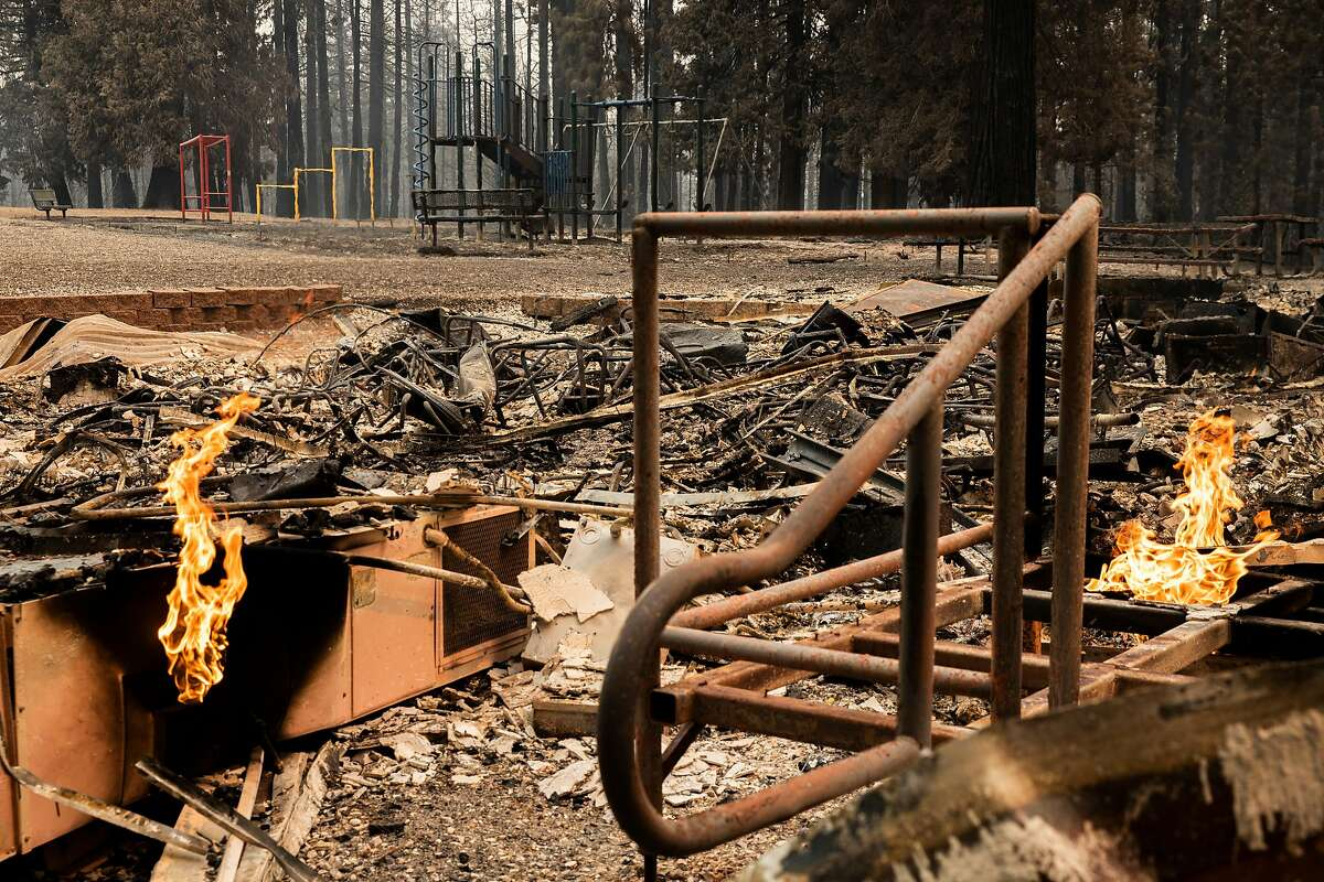 Walt Tyler Elementary School, Wednesday, Aug. 18, 2021, in Grizzly Flats, Calif. The area was destroyed in the Caldor Fire.