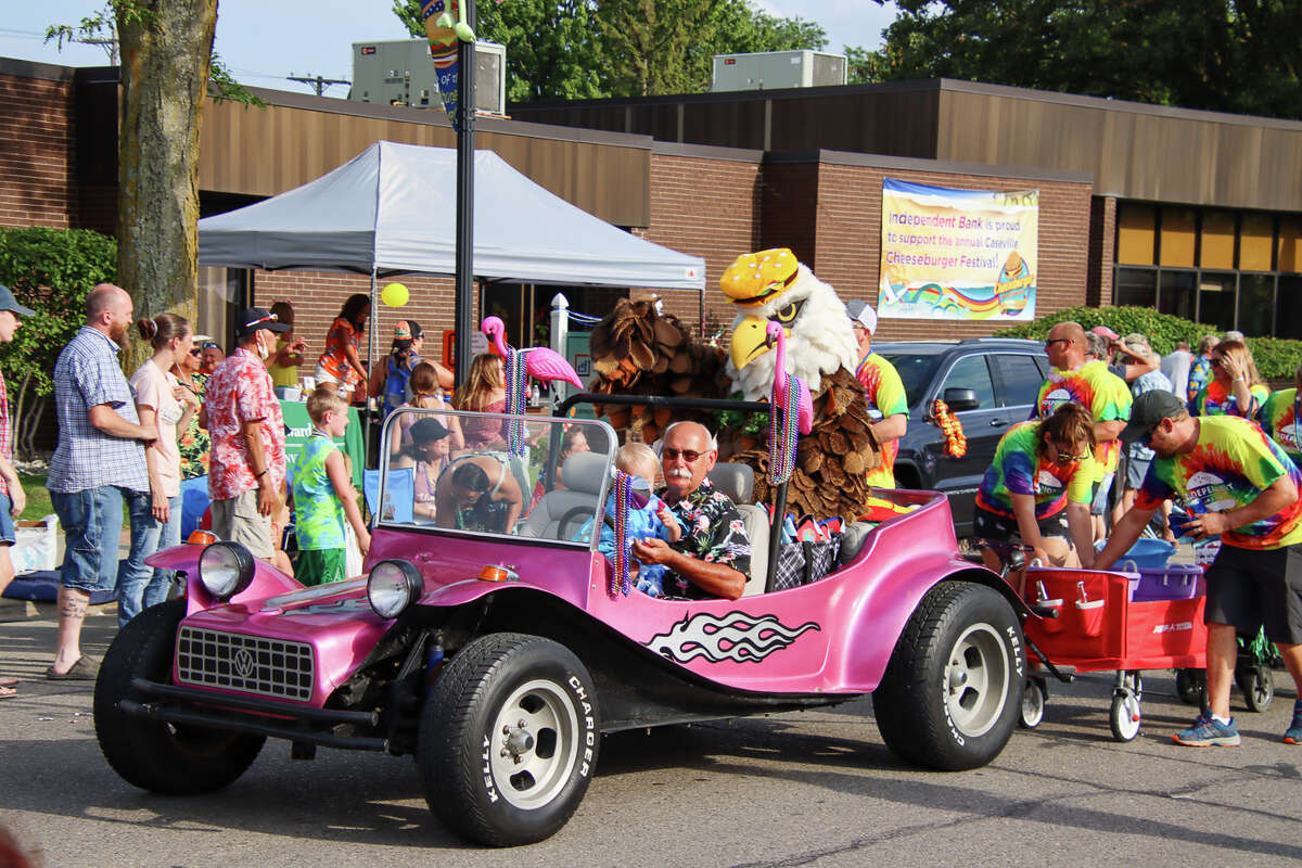Crowds of people lined the streets of Caseville to watch the Parade of Fools Aug. 18.