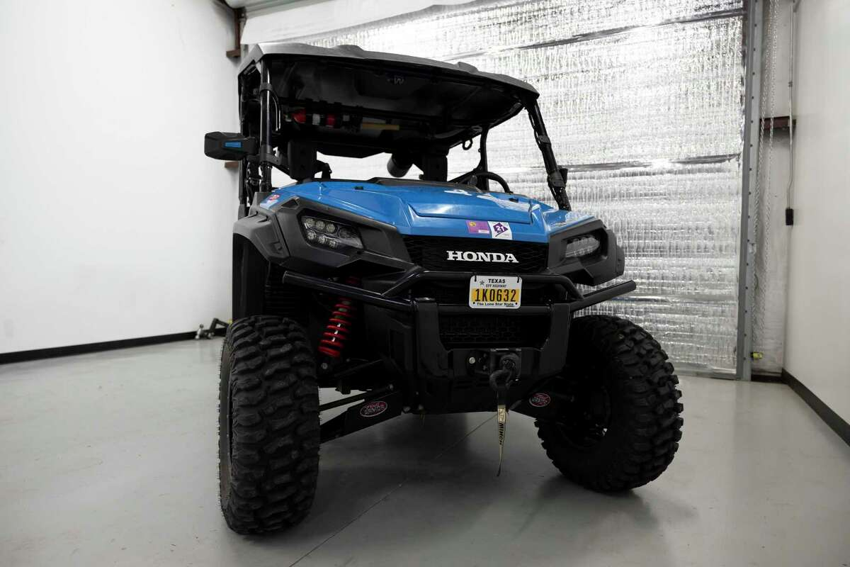 An ATV is stored at Dan King's shop, Tuesday, Aug. 17, 2021, in Conroe. Off-road vehicles have enjoyed a rise in popularity since the pandemic started last year and some Montgomery County businesses catering to the recreation have seen a shortage of supplies.