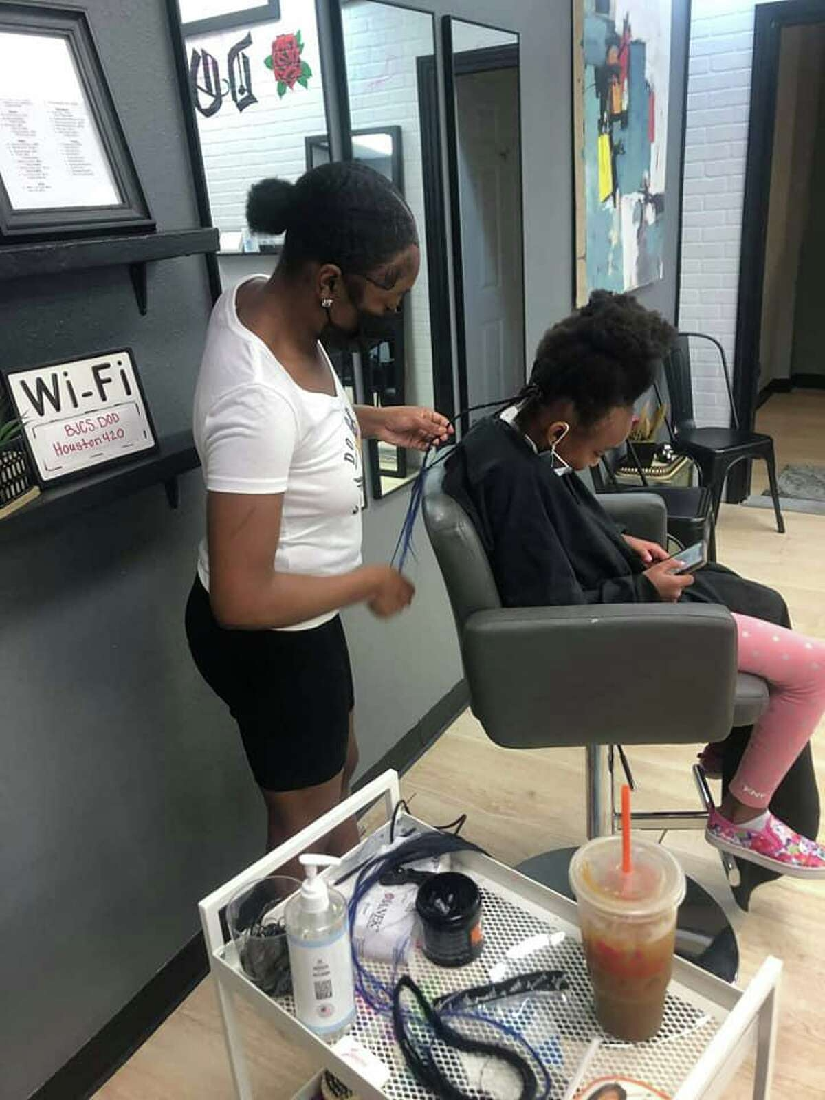 Joe Kane, the owner of Barber Joe's Chop Shop on Center, and his staff devoted one Sunday (Aug. 15) to making sure students of all ages started the year off by giving free haircuts to 100 students in Deer Park ISD.