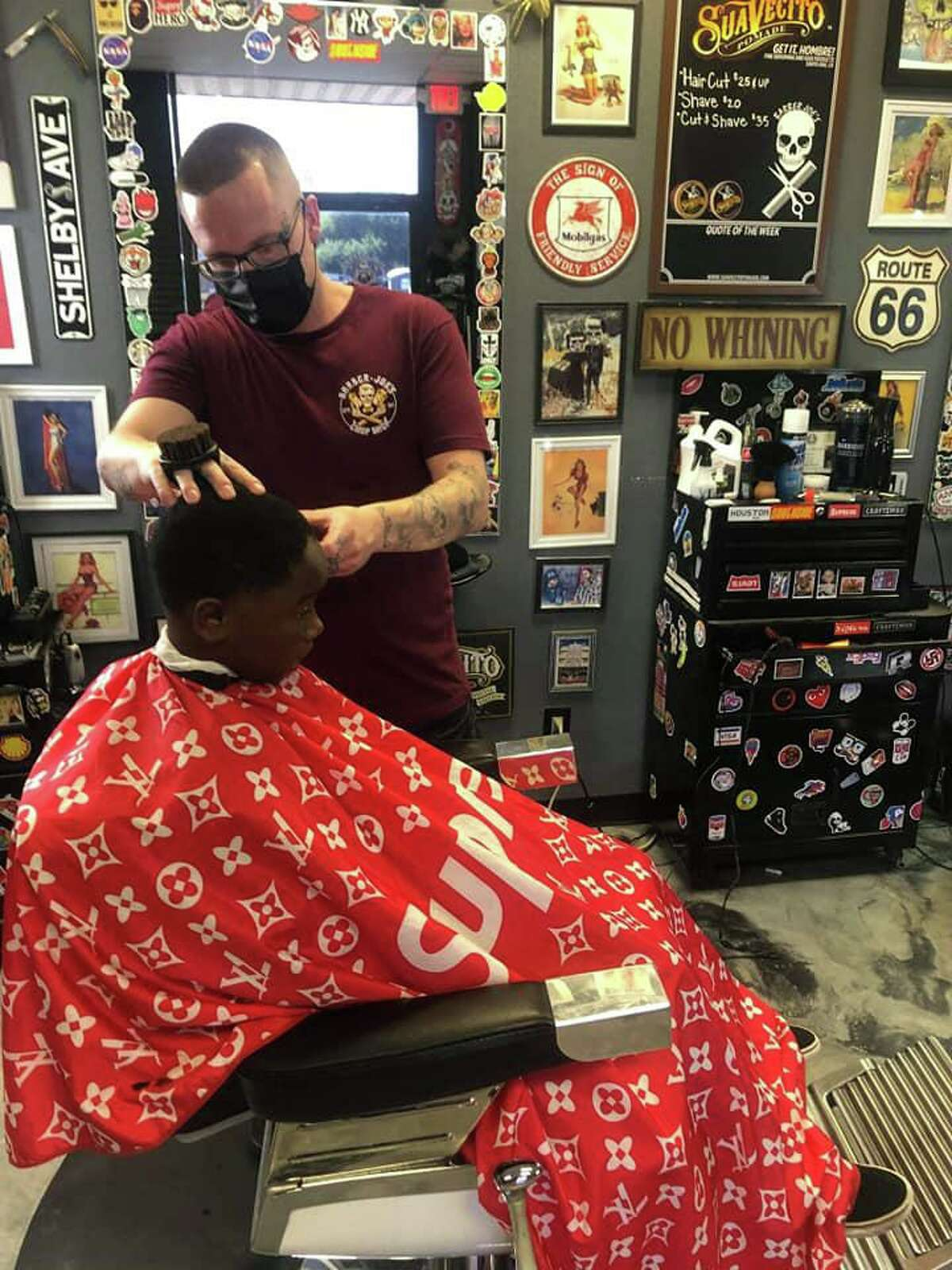Using a voucher system, the business reached out to local churches and the school district to identify students in need. A good haircut goes a long way, said Olivia Kane, who owns the salon and spa adjacent to Barber Joe's.