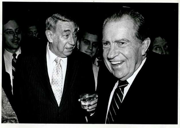 Howard Cosell and Richard Nixon. Photo: File Photo / Stamford Advocate File Photo