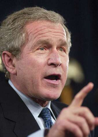 2004: President George W. Bush, speaks during a presidential fundraiser at the Hyatt Regency Hotel, Greenwich. Photo: File Photo / Stamford Advocate File Photo