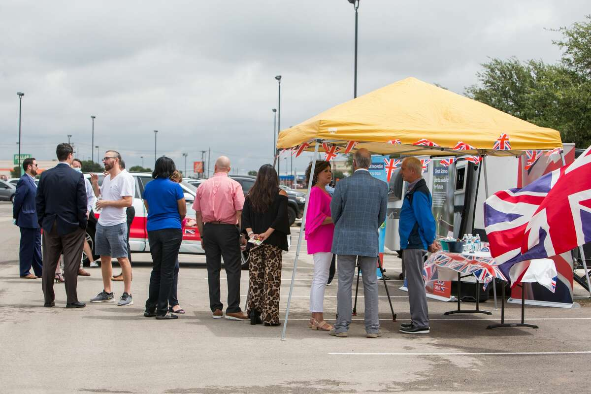 The British Consul General visited West Texas part of a two-week tour of the state, displaying British food, drink and music at a pop-up consul at UTPB>