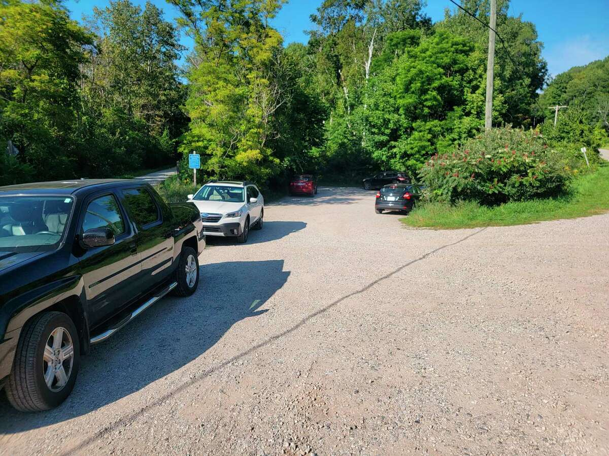 Improved parking at a lot used by people accessing the beach at Crystal Lake as well as the Betsie Valley Trail could be in the works. (Colin Merry/Record Patriot)