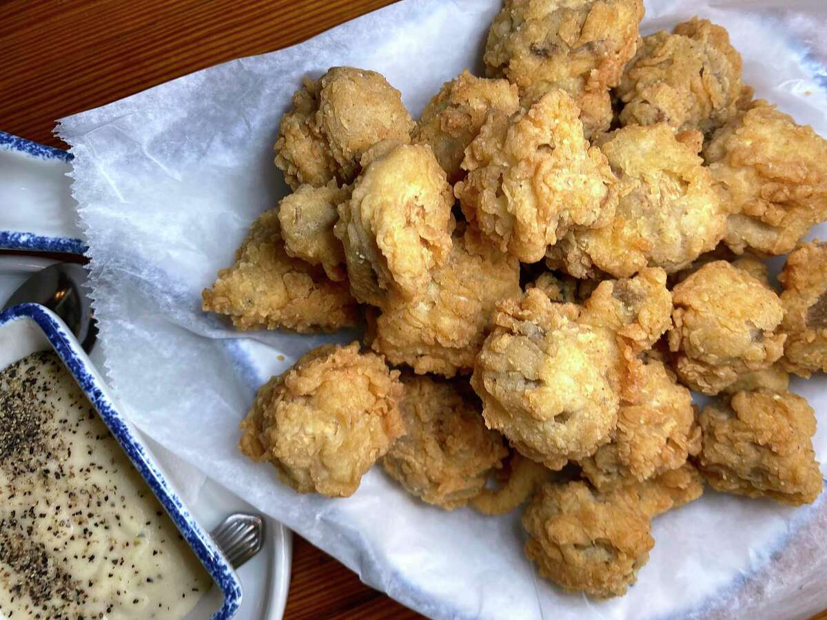 Fried Mushrooms with Cream Sauce is a staple at Mama's Cafe, a country cafe-style restaurant owned by the Lawton family on Nacogdoches Road outside of Loop 410 on the northeast side of San Antonio.