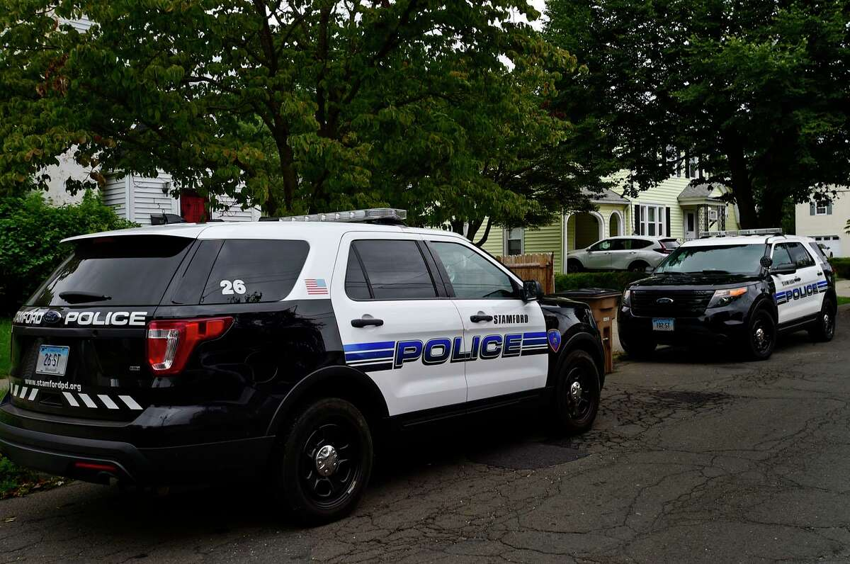 Stamford police respond to 150 Culloden Road Wednesday, August 18, 2021, for a report of a fatal stabbing in Stamford, Conn.