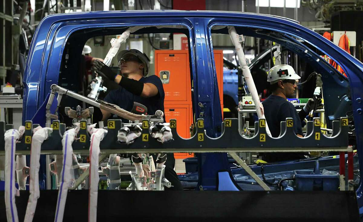 Toyota Motor Manufacturing Texas plant tour on Friday, Oct. 23, 2015.