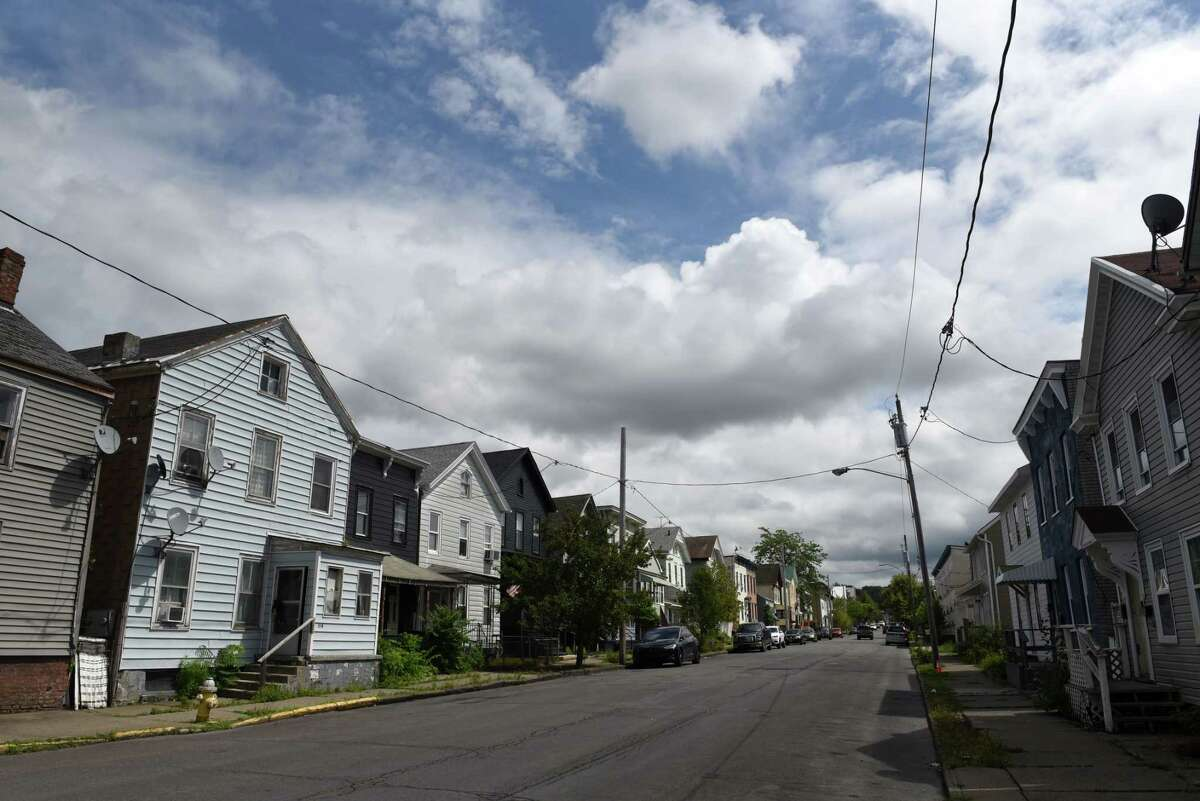 Homes along State Street on Thursday, Aug. 19, 2021, in Hudson, N.Y.