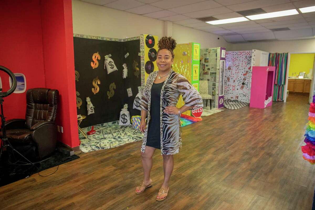 Owner Jannie Mitchell poses for a portrait in the Be You Selfie Studio on Wednesday, Aug. 18, 2021 at 3205 W. Cuthbert Ave. Suite A-4. Jacy Lewis/Reporter-Telegram