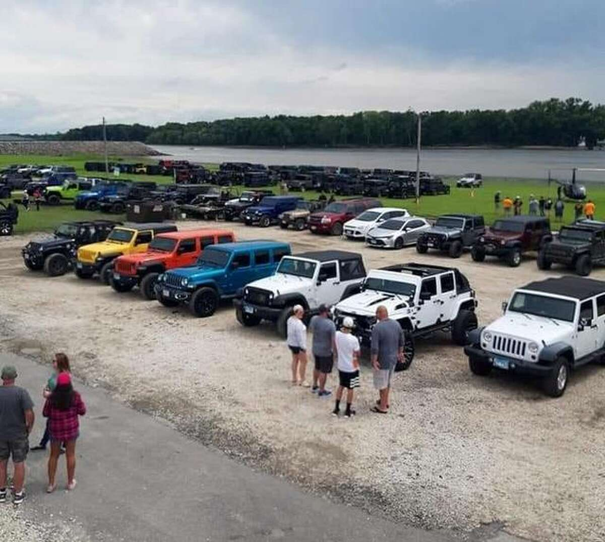 The Cassens River Road Jeep Run will begin at Cassens, 3333 IL-159, in Glen Carbon, at 8:30 a.m., and ends at the Hawg Pit, 821 W. Main St., in Grafton, Saturday, Aug. 21. Jeeps will begin pulling into the Hawg Pit around 11:30 a.m. Saturday. The event is expected to draw hundreds of Jeeps.