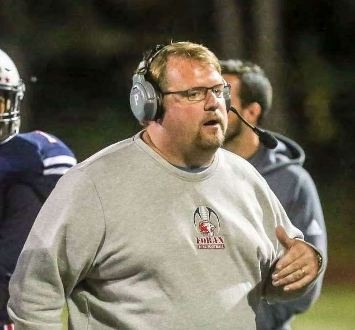 Football coach Tom Drew took his Foran team through OTA's last week. The Lions will condition this week. Contact drills begin on Saturday.
