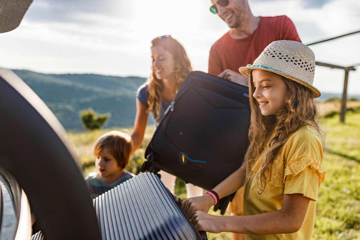 Family travel on the coast