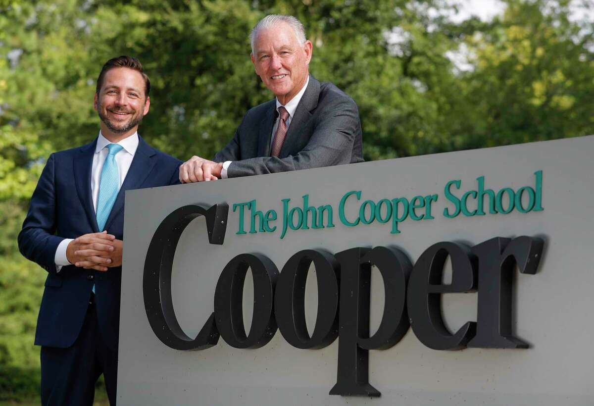The John Cooper School has begun a yearlong leadership transition for the college-preparatory school. Stephen Popp, current head of the Upper School, will replace retiring Michael Maher (right) head of The John Cooper School at the end of the 2021-2022 school year.