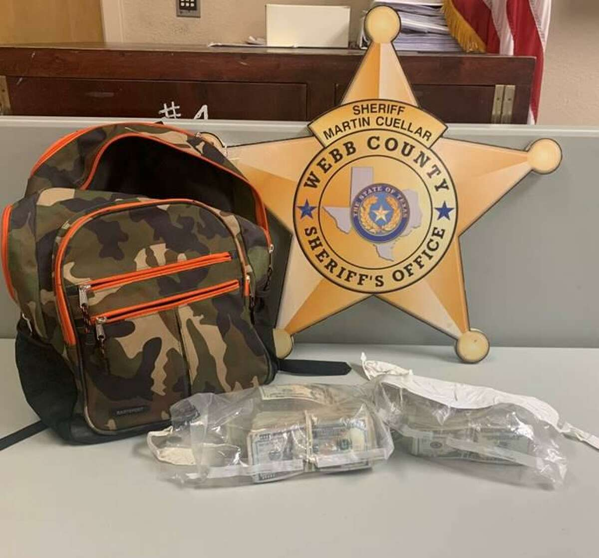 The Webb County Sheriff's Office seized more than $25,000 during a traffic stop on Wednesday in north Laredo.