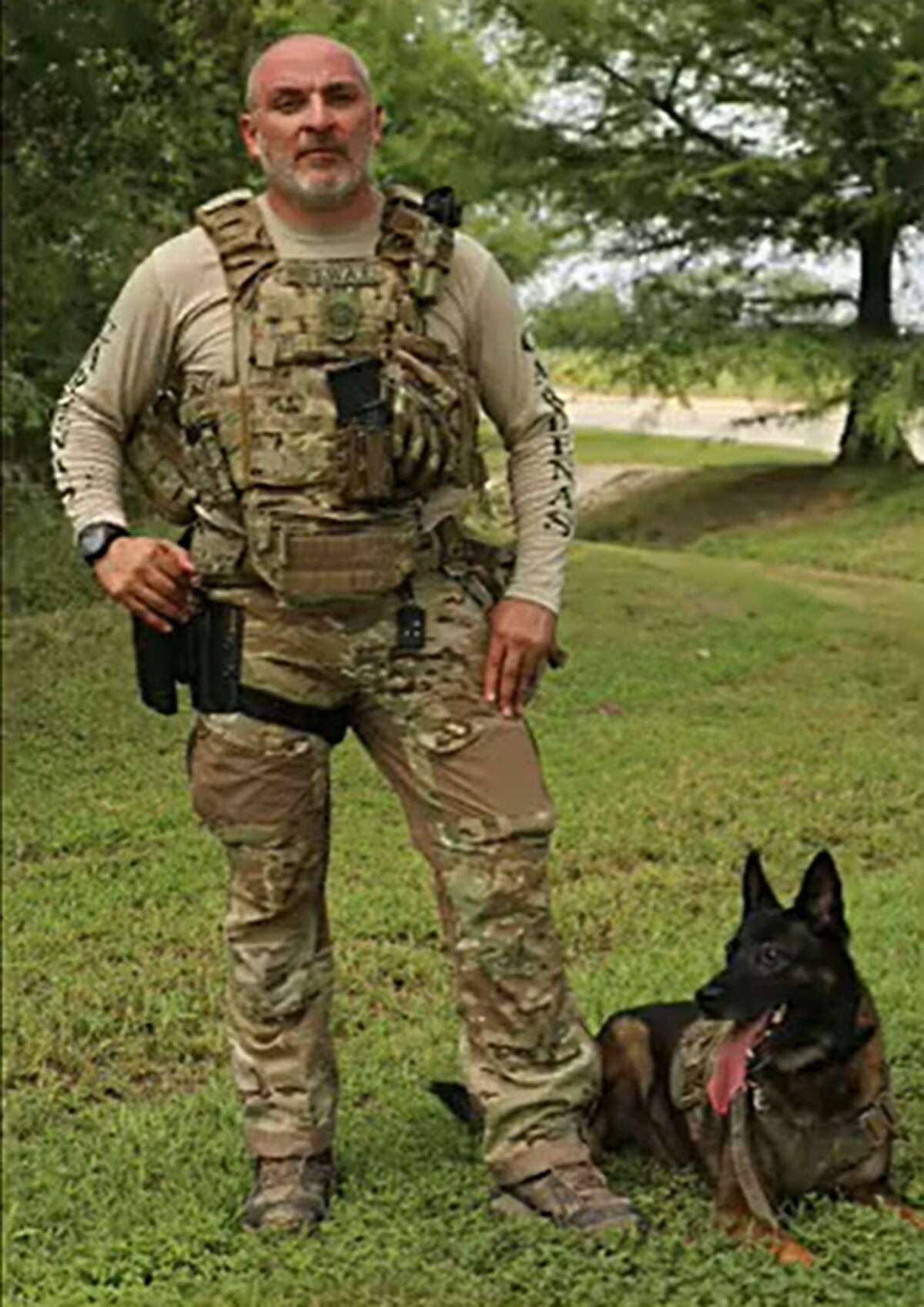 Deputy Floyd Cardenas, 41, who was assigned to the SWAT K-9 unit, was found unresponsive by his family Thursday morning, Sheriff Javier Salazar says.