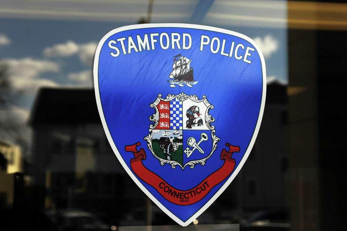Stamford police logo.