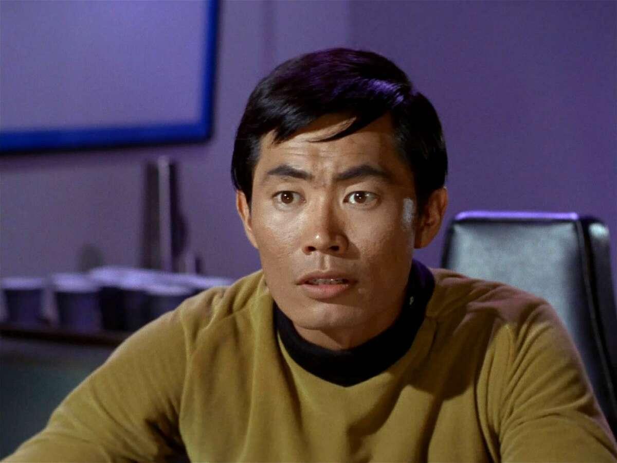 """George Takei as """"Mr. Sulu"""" from the original """"Star Trek"""" series."""