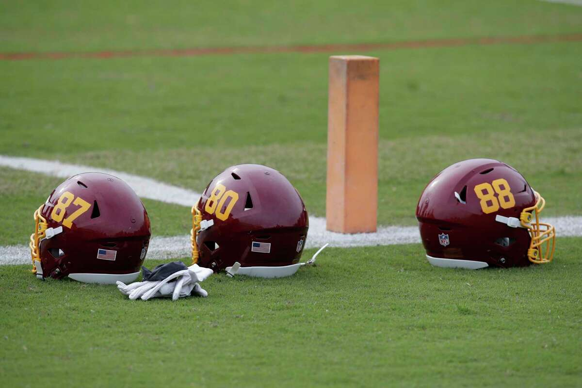 Since dropping its previous nickname, the Washington Football Team has simply had numbers on its helmets.